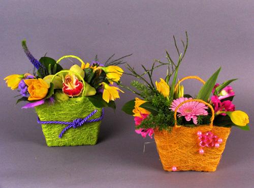 Композиции из цветов своими руками для детей